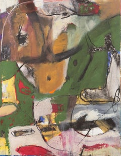 'Hommage à Chagall', Large Bay Area Abstract Oil, San Francisco Art Institute