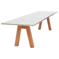 Klaus Wettergren Dinning Table in Comoro Wood and Zinc Table Top, Modern Design
