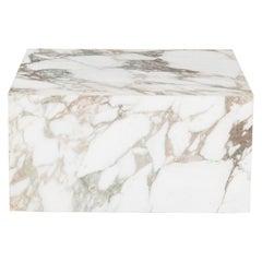 Knoll Gae Aulenti Style Calacatta Cube Coffee Table