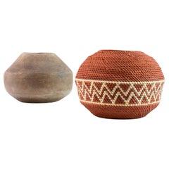 Kwasawá Straw and Ceramic Bowl