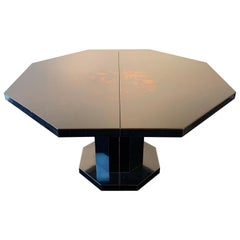Lacquered Wood Dining Table, 1970s