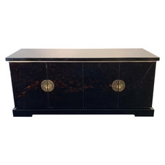 Lacquered Wood Sideboard, in the style of Maison Jansen,  1970s