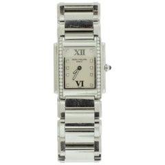 Ladies Patek Philippe Stainless Steel and Diamond Watch
