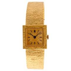 Ladies Wristwatch Yellow Gold 18 Carat, Mechanical Movement
