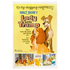 """""""Lady and the Tramp"""" R1972 U.S. One Sheet Film Poster"""