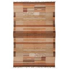 Laila Karttunen Finnish Flat-Weave Carpet for Kiikan Mattokutomo, 1930s