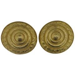 Lalaounis 22 Carat Yellow Gold Swirl Ear Clip Earrings