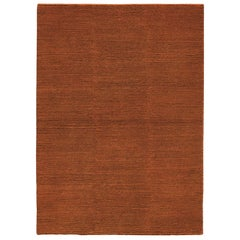Lanagrossa, Modern Rug, in Pure Wool in Ivory Orange Hues, by Deanna Comellini