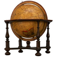 Large 18th Century French Library Terrestrial Globe by Jean Fortin, Paris, 1780