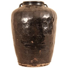 Large Antique Ceramic Jar from South India