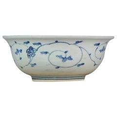 Large Arita Bowl Beautiful Japanese Porcelain Plate Edo Period