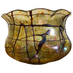 Large Art Glass Bowl Durand or Quezel / Unsigned