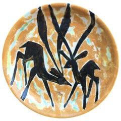 Large Ceramic Dish, Vallauris, circa 1970