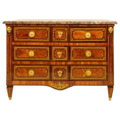 Large French 18th Century Louis XVI Marquetry Commode or Chest of Drawers