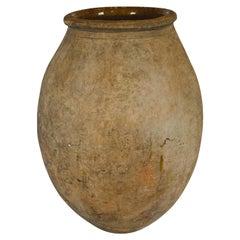 Large French Biot Pot, Olive Jar