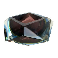 Large Murano Glass Sommerso Bowl Ashtray Element by Flavio Poli, Italy, 1970s
