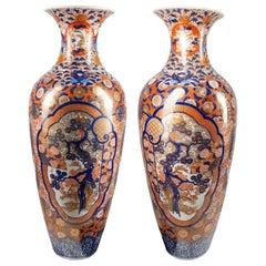 Large Pair of Japanese Imari Porcelain Vase, circa 1880