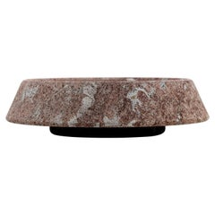 "Large ""Plata"" Red Bilbao Limestone Centerpiece, G. Cacciatori for Up & Up, 1970s"
