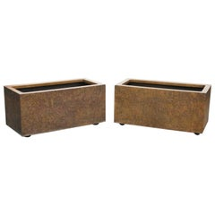 Large Rectangular Architectural Fiberglass Planters by Forms and Surfaces