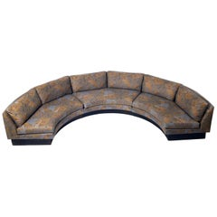 Large Scale Curved Sofa by Irwin Lambeth