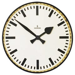 Large Siemens Factory, Station or Workshop Wall Clock