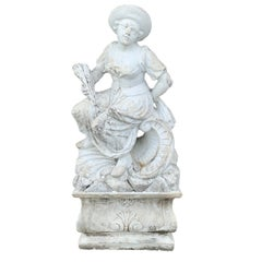 Large Versailles Style Cast Stone Statue of 'Harvest' on a Pedestal Base