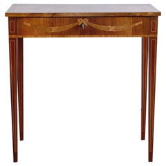 Late 18th Century Swedish Gustavian Occasional Table with Fruitwood Inlay