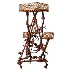 Late 19th Century French Natural Form Twig Plant Stand