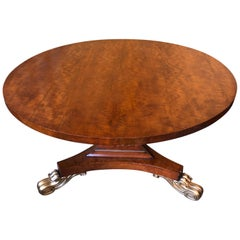 Late Regency Satinwood, Gilded Centre Table, England, circa 1830