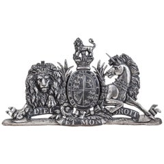 Late Victorian Cast Iron Royal Coat of Arms