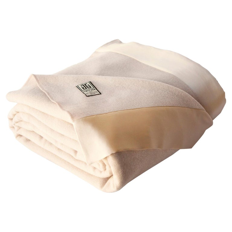 Lauren Lambswool Champagne Blanket, Queen For Sale