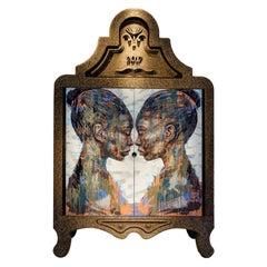 """Laurie Wiid van Heerden and Lionel Smit, """"Lineage"""" Hand-Painted Cork Cabinet"""