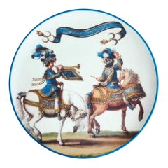 Le Carousel Porcelain Plate, Made in Italy