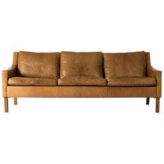 Leather Sofa by Ib Kofod-Larsen
