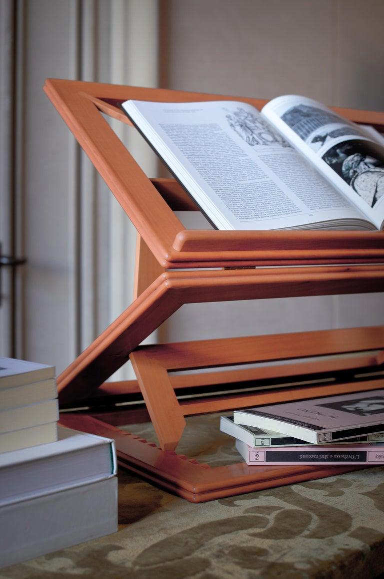 Italian Gae Aulenti Leggio d'Orsay Collapsable Wooden Book Stand by Bottega Ghianda For Sale