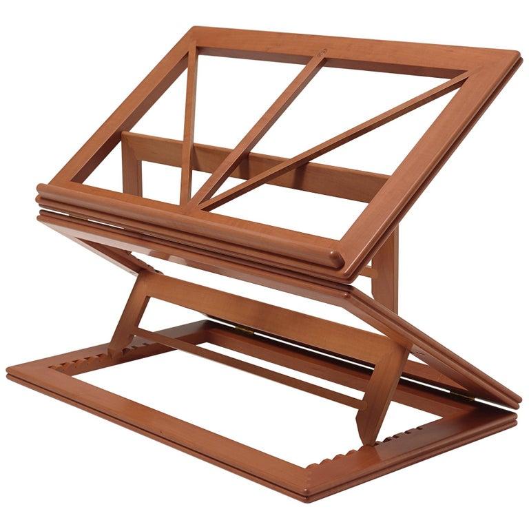 For Sale: Orange (Pearwood) Gae Aulenti Leggio d'Orsay Collapsable Wooden Book Stand by Bottega Ghianda