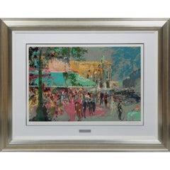"""Leroy Neiman """"Cafe de la Paix,"""" Paris (Large; Signed Artist's Proof)"""