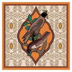Les Ottomans Falcon Patterned Silk Turkish Scarves by Alessio Nessi