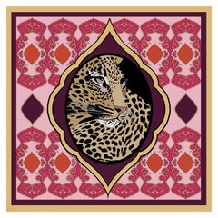 Les Ottomans Leopard Patterned Silk Turkish Scarves by Alessio Nessi
