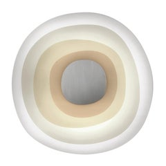 Leucos Beta Big Flush Mount in White and Sand by Paolo Franzin