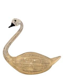 Swan By Licio Zanetti Large Murano Glass