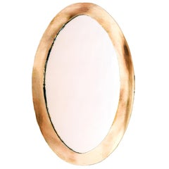 """Life"" contemporary mirror , central mirror, bronze silvered glass ring,Birch"