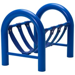Limited Edition Tubular Magazine Rack by Another Human, Blue