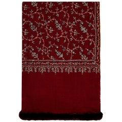 Limited Edition Verheyen Hand embroidered Mink Fur Trimmed Cashmere Shawl - Gift