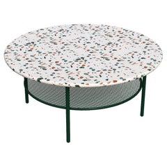 Lira Coffee Table, White Terrazzo and Metal, Contemporary Mexican Design