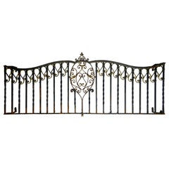 Long Cast Iron Window Guard with Shield