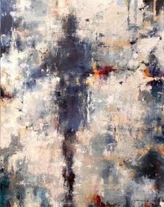 My Darling Indigo by Lorraine Christie, Vertical Impressionist Painting