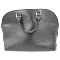Louis Vuitton Alma handbag in black épi leather