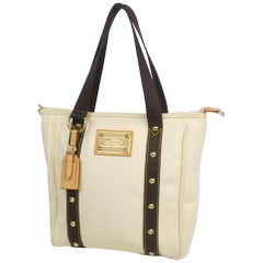 LOUIS VUITTON Antigua Cabas PM Womens tote bag M40036 ivory x brown