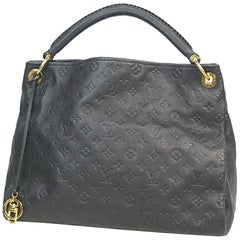 LOUIS VUITTON Artsy MM Womens shoulder bag M93448 Infini( dark blue)